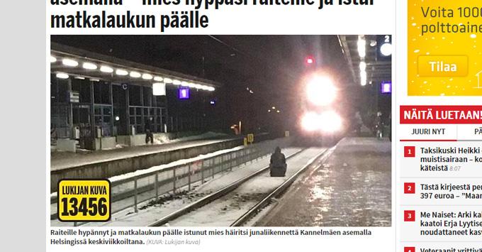 Kannelmäe raudteejaamas: Noor mees hüppas rongi ette