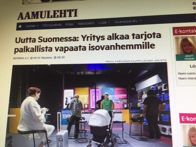 Soome ettevõte pakub lapsepuhkust vanavanematele