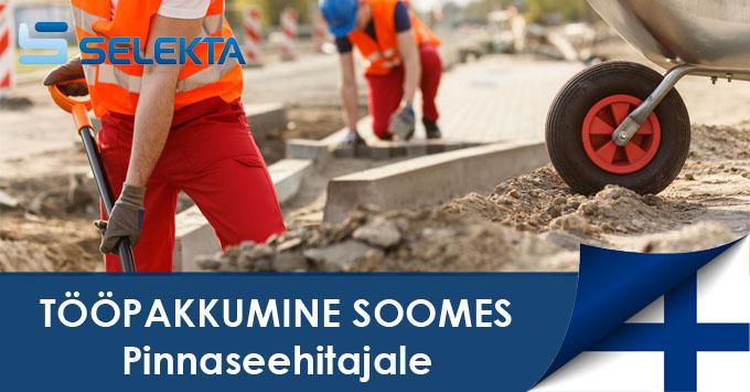Selekta tööpakkumine - Pinnaseehitaja (Maanrakentaja) Soome