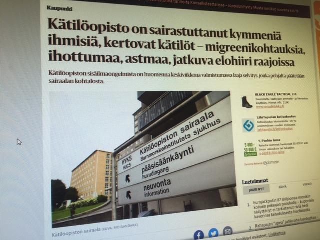 Helsingi sünnitushaiglas tõsised siseõhuprobleemid, kümned haigestunud
