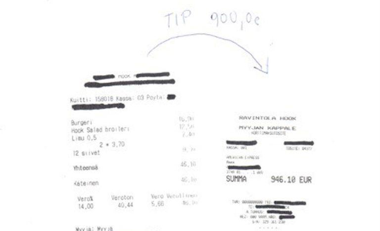 Naftašeik jättis Helsingi söögikohta burksi eest 900-eurose jootraha
