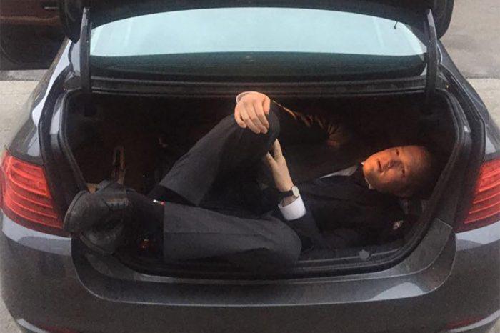 Ministeeriumi kantsler peitis end auto pagasiruumi