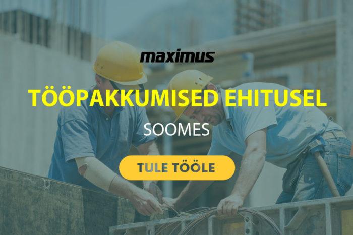 Maximus OY – tööpakkumine santehnikule