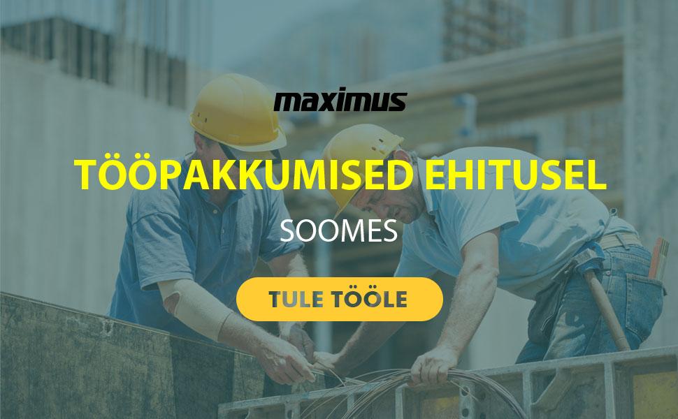 Maximus OY – tööpakkumine ekskavaatorijuhile